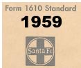 Form 1610 Standard - List of Numbers Assigned to Stations - 1959