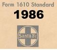 Form 1610 Standard - List of Numbers Assigned to Stations - 1986