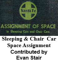 Asignment of Space in Sleeping Cars and Chair Cars (Evan Stair)