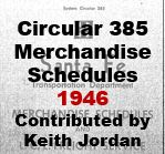 Circular 385 - Merchandise Schedules; 1946 (Keith Jordan)