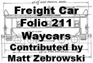 Freight Car Folio 211 - Waycars (Matt Zebrowski)