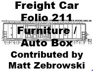 Freight Car Folio 211 - Furniture and Auto Box Cars (Matt Zebrowski)
