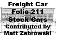 Freight Car Folio 211 - Stock Cars (Matt Zebrowski)