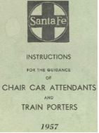 Instructions for Chair Car Attendants and Porters - 1957