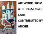 Artwork from Santa Fe Passenger Cars
