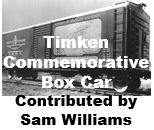 Timken Commerative Box Car