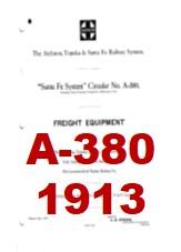 Santa Fe System Circular A-380 - Freight Equipment - 1913