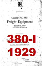 Santa Fe System Circular 380-I- Freight Equipment - 1929