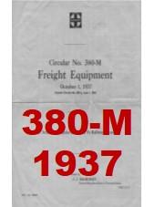 Santa Fe System Circular 380-M - Freight Equipment - 1937
