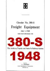Santa Fe System Circular 380-S - Freight Equipment - 1948