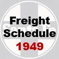 Santa Fe Freight Schedule - 1949