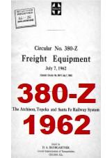 Santa Fe System Circular 380-Z - Freight Equipment - 1962