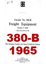 Santa Fe System Circular 380-B - Freight Equipment - 1965