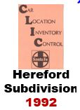 CLIC Book - Hereford, Texas Subdivision - 1992