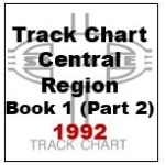 Track Chart - Central Region, Book 1 (Part 2) - 1992