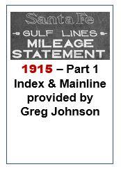 Gulf Lines Mileage Statement - Part 1 - 1915