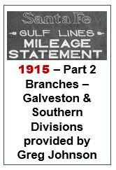 Gulf Lines Mileage Statement - Part 2 - 1915