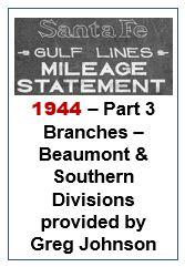 Gulf Lines Mileage Statement - Part 3 - 1944