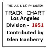 Track Chart for Los Angeles Division - 1951