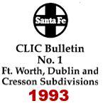 CLIC Book - Fort Worth, Dublin & Cresson Subdivisions - 1993