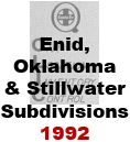 CLIC Book - Enid, Oklahoma and Stillwater Subdivisions - 1992