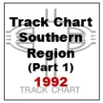 Track Chart - Southern Region (Part 1) - 1992