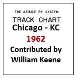 Track Chart - Chicago to Kansas City - 1962