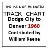 Track Chart - Dodge City to Denver - 1960