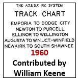 Track Chart - Emporia to Dodge City, Wellington, Winfield, South Shawnee - 1960
