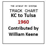Track Chart - Kansas City to Tulsa - 1960