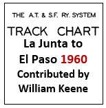 Track Chart - La Junta to El Paso - 1960
