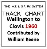 Track Chart - Wellington to Clovis - 1960
