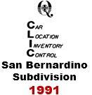 CLIC Book - San Bernardino Subdivision - 1991