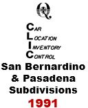 CLIC Book - San Bernardino and Pasadena Subdivisions - 1991
