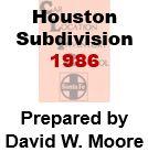 CLIC Book - Houston Subdivision- 1986