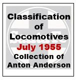 Santa Fe Classification Of Locomotive - July 1955