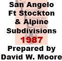CLIC Book - San Andelo, Fort Stockton and Alpine Subdivisions - 1987