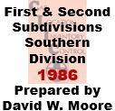 CLIC Book - First and Second Subdivision, Southern Division - 1986