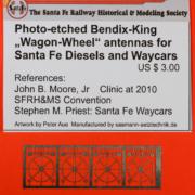 Wagon wheel antenna part
