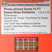 Santa Fe FT diesel nose piece part
