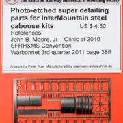 IM steel caboose detail parts