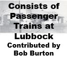 Passenger Train Consists at Lubbock Texas
