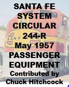 Santa Fe Circular 244-R - Passenger Equipment, May 1957