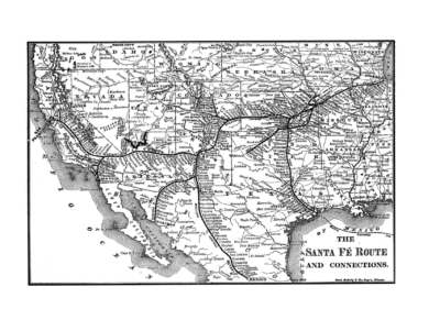 1891 Santa Fe System Map