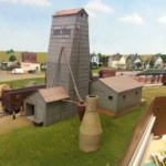 Model of Eureka Cornett grain elevator