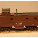 Model of an ATSF steel caboose