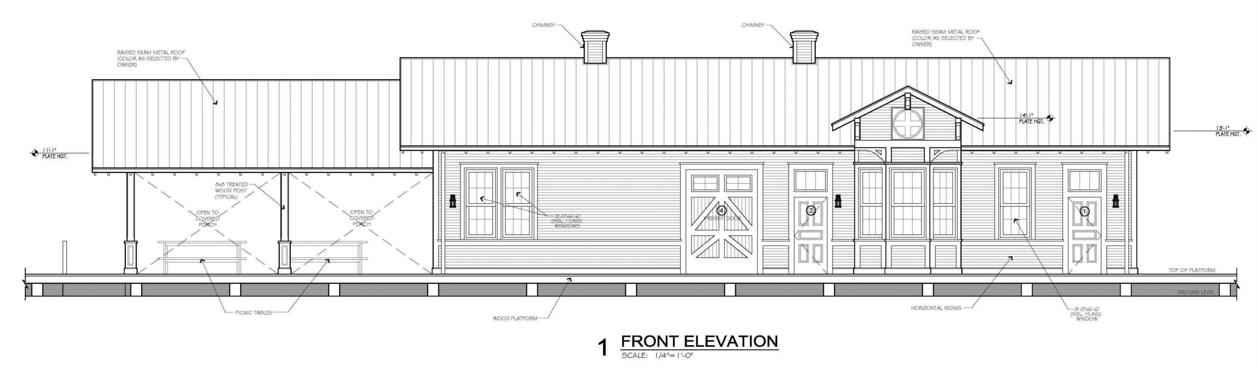 Image of Philmont Metcalf Station depot plans