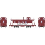 Image of Athearn ATSF caboose safety scheme