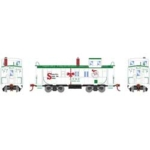 Image of Athearn ATSF caboose in Christmas scheme