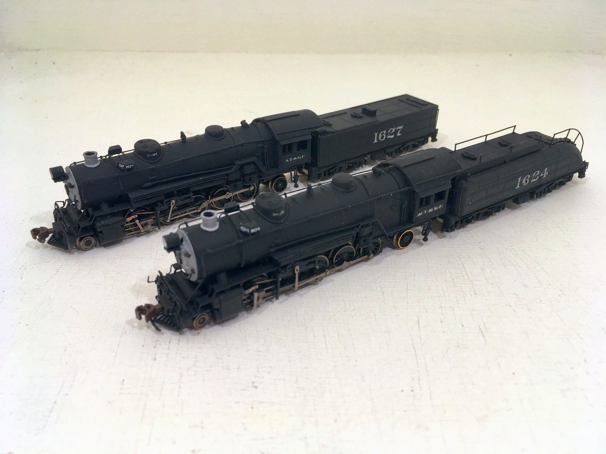 ATSF Santa Fe #1624 & 1627 (model)